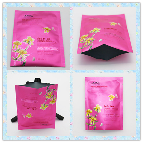 Pink Color 3 Side Seal Pouch Easy - To - Tear With High Temperature Resistance