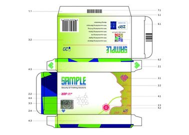 China Implantable Paper Anti Counterfeit Printing Package Box Anti - Fade 2D Gold Blocking supplier