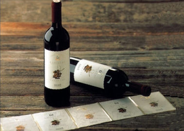 Adhesive Paper Wine Label Stickers , Spot UV Surface Handle Printable Wine Labels