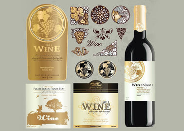 China Antarctic White Paper Type Custom Wine Labels Matte Varnishing Surface Finishing supplier