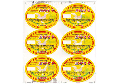 China Highly Fitted Anti Counterfeit Sticker With Firm Code Spurting For Annual Ticket distributor