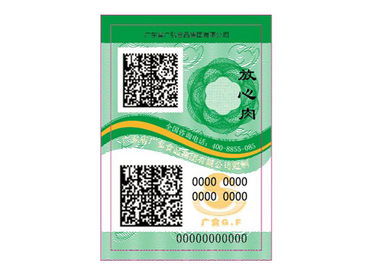China 2D Code Anti Counterfeit Labels , Anti Theft Labels With Special Ink And Software Design distributor