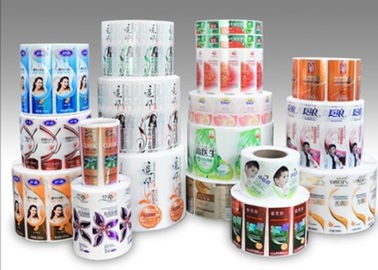 China Custom Logo Adhesive Paper Stickers , Bath Cream Shampoo Vinyl Self Adhesive Sticker Paper distributor
