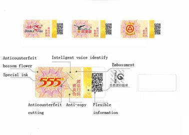 China 2D Code Flexible Information Anti Counterfeit Labels With Special Ink Printing distributor